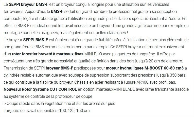 Broyeur SEPPI BMS