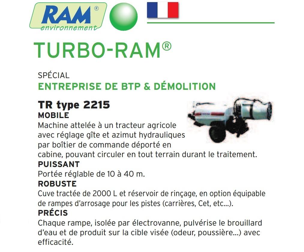Brumisateur TurboRam TR2215